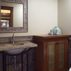 Traditional Powder Room by Bud Dietrich, AIA