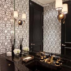 Contemporary Powder Room by Smith Firestone Associates