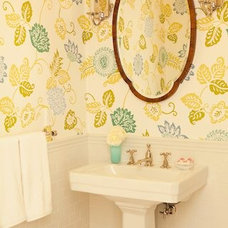 Transitional Powder Room by Elizabeth Dinkel