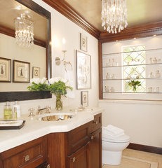 traditional powder room by Annette English