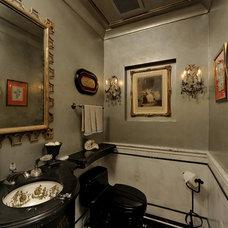 Traditional Powder Room by Savena Doychinov, CKD/Design Studio International