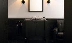 Black Wood Powder Room