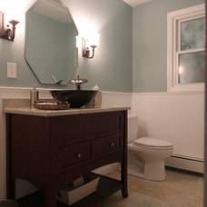 Traditional Powder Room by Lyman Kitchens
