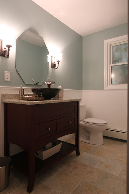 Traditional Powder Room by Lyman Kitchens