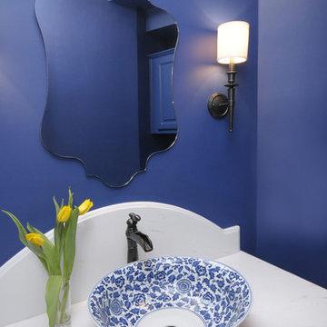 Blue Powder Bath Remodel