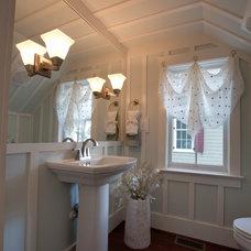 Farmhouse Powder Room by Stephen Alexander Homes & Neighborhoods