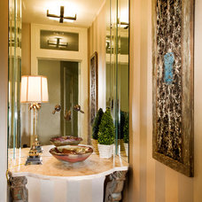 Traditional Powder Room by LGB Interiors