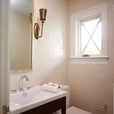 Traditional Powder Room by MORE design+build