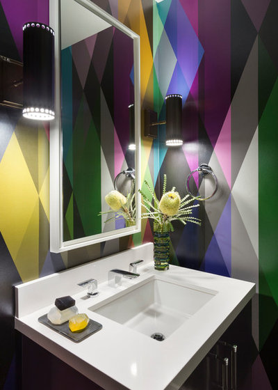 Contemporary Cloakroom by Ann Lowengart Interiors