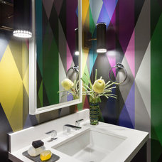 Contemporary Powder Room by Ann Lowengart Interiors