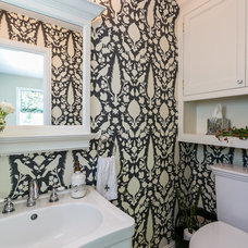 Traditional Powder Room by Catherine Nguyen Photography