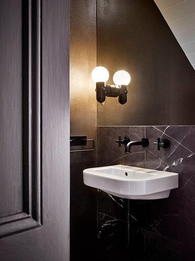 Industrial Powder Room by ANNA CARIN Design