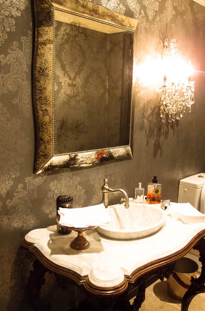Eclectic Powder Room by Monica Kovacic