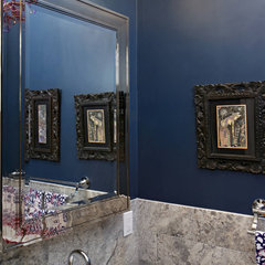 eclectic powder room by Nirmada Interior Architectural Design