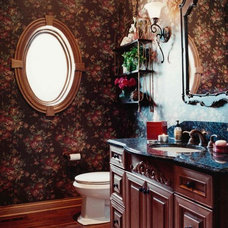 Traditional Powder Room by Celeste Jackson Interiors, Ltd.