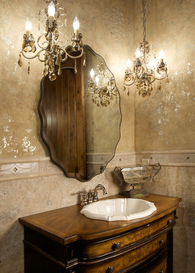 Traditional Powder Room by Bryant Ratliff Builders