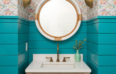 Powder Room Patterns: 10 Stylish Shiplap Looks