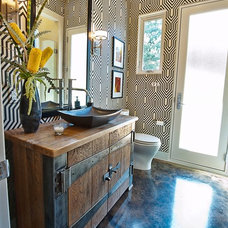 Contemporary Powder Room by Greenbelt Construction