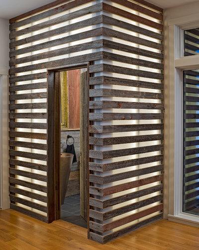 Farmhouse Powder Room by Moger Mehrhof Architects