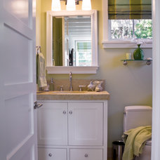 Beach Style Powder Room by Viscusi Elson Interior Design - Gina Viscusi Elson