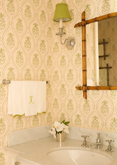 Tropical Powder Room by Elizabeth Dinkel