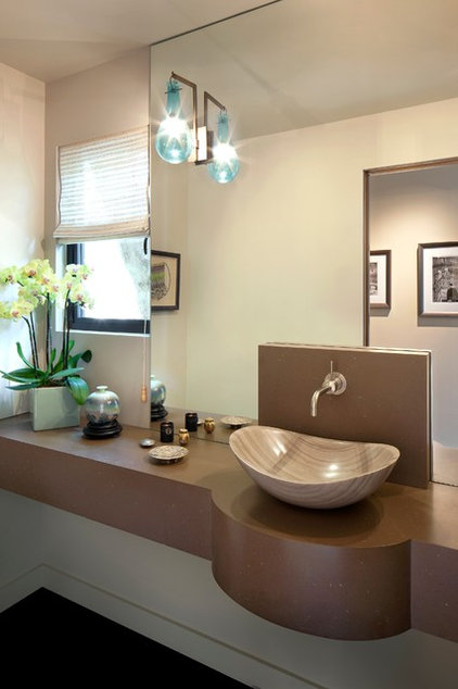 Midcentury Powder Room by Susan Jay Design