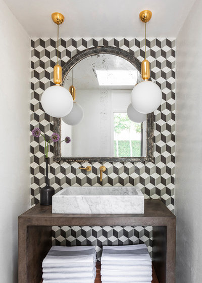 Contemporary Powder Room by Chandos Interiors