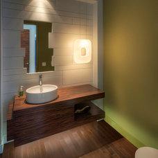 Contemporary Powder Room by Everitt Design