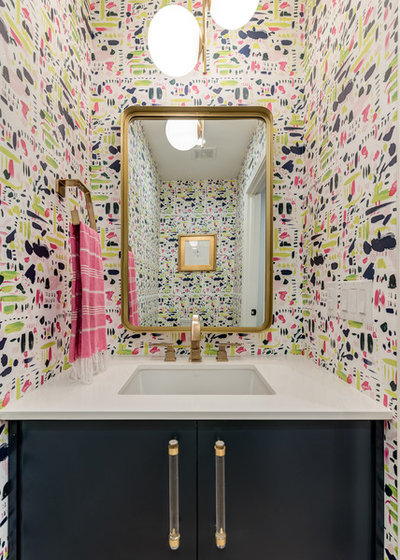 Contemporary Powder Room by FAB Architecture