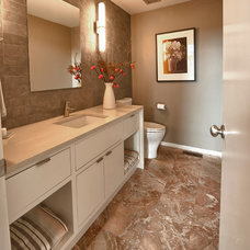 Contemporary Powder Room by redu interior design