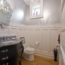 Traditional Powder Room by Kelly Arthur