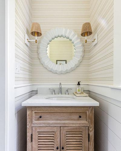 Beach Style Powder Room by Cutting Edge Homes Inc.