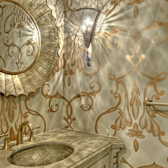 eclectic powder room by Dodson and Daughter Interior Design