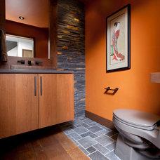 Contemporary Powder Room by Ryan Duebber Architect, LLC