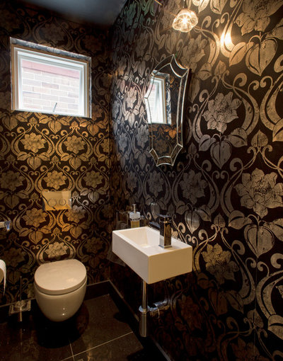 Contemporary Powder Room by TO THE MIL excellence in construction