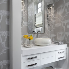 modern powder room by AMW Design Studio