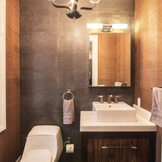 Contemporary Powder Room by Home & Stone