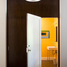 Modern Powder Room by CWB Architects