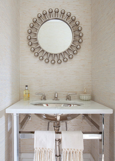 Contemporary Powder Room by Cara Woodhouse Interiors LLC