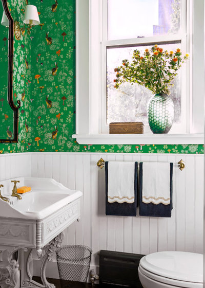 Traditional Powder Room by LAVA interiors