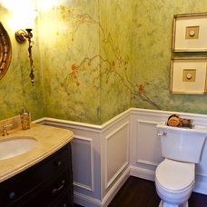 Traditional Powder Room by Brownhouse Design, Los Altos, CA
