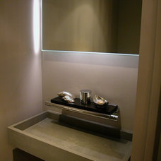Modern Powder Room by Chelsea Atelier Architect, PC