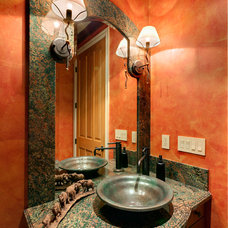 Eclectic Powder Room by Classic Interiors