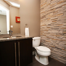 Contemporary Powder Room by Allen Interiors & Design Center Inc