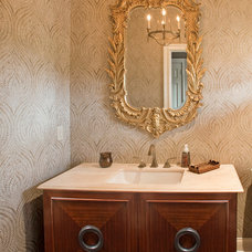 Traditional Powder Room by JFA Architecture