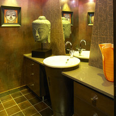 Eclectic Powder Room by Jaque Bethke for PURE Design Environments Inc.