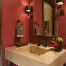 Rustic Powder Room by Slifer Designs