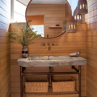 Photos et idées déco de WC et toilettes rétro avec un plan vasque