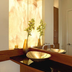 contemporary powder room by House + House Architects