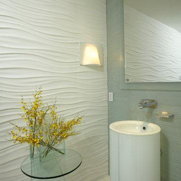 By J Design Group – Powder Room - Miami Interior Designers – Contemporary